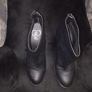 Ladies black ankle booties
